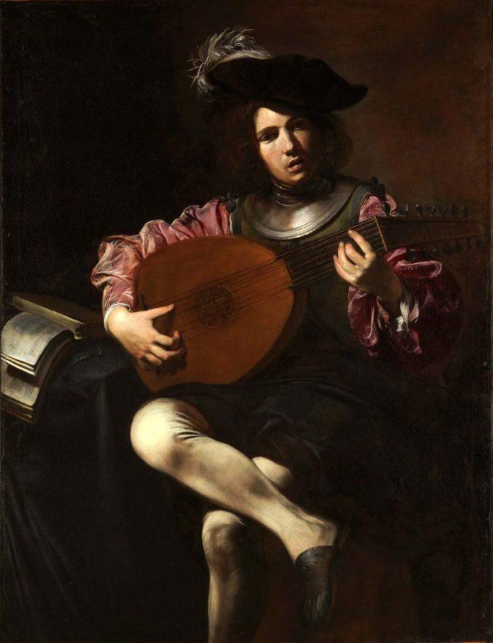 лютнист, старая гитара
