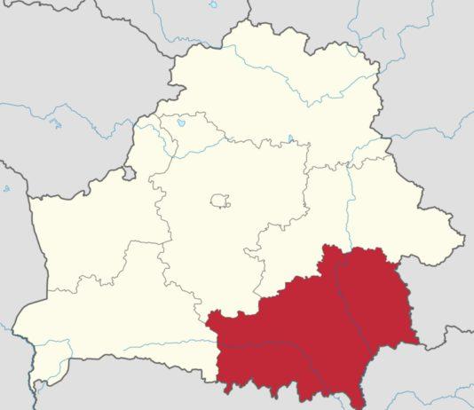 Карта Беларуси с Гомельской областью