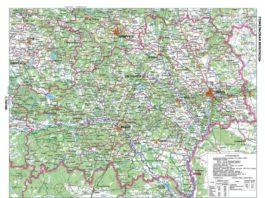 Карта рельефа Гомельской области