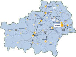 Карта дорог Гомельской области