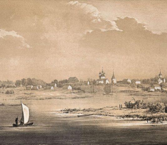 Река Припять и Туров на гравюре Наполеона Орды