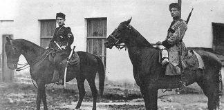 Генерал Станіслаў Булак-Булаховіч на кані ў адным са сваіх паходаў