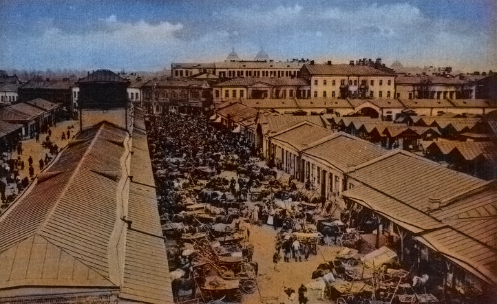 Здание рынка в Гомеле. Старое фото
