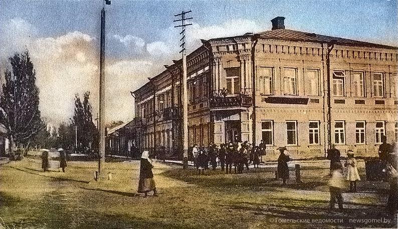 Старой фотографии улицы Аптечной в Гомеле вернули цвет