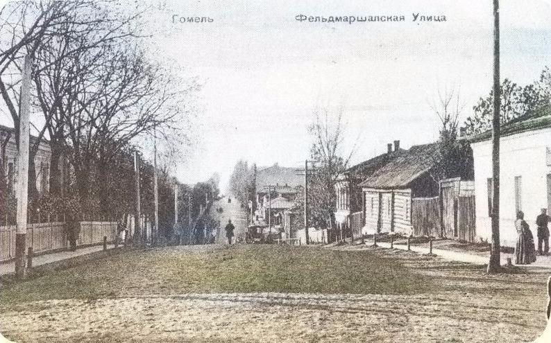 Фельдмаршальская улица (Пролетарская) в Гомеле в цвете