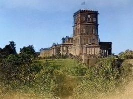 Дворец Паскевичей в Гомеле. Цветное фото