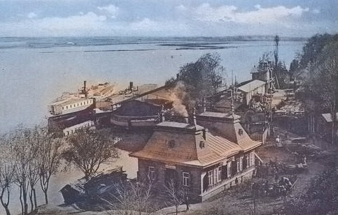 Фотография старого порта в Гомеле в цвете