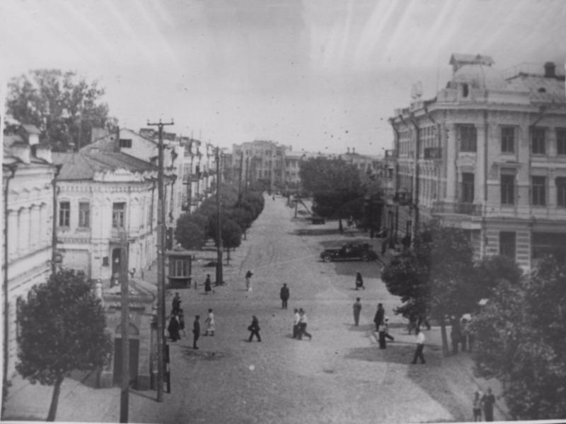 Улица Крестьянская на фотографии 1930-хх гг.