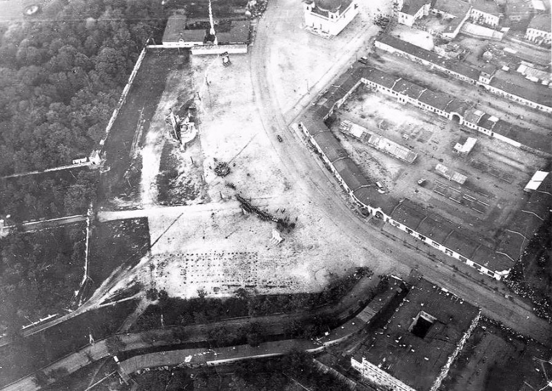 Вид на старую площадь Ленина в Гомеле