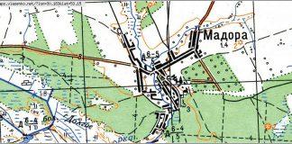 Деревня Мадора Рогачёвского района на карте
