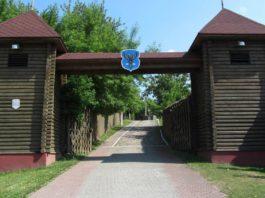 Фотография ворот замка в Мозыре