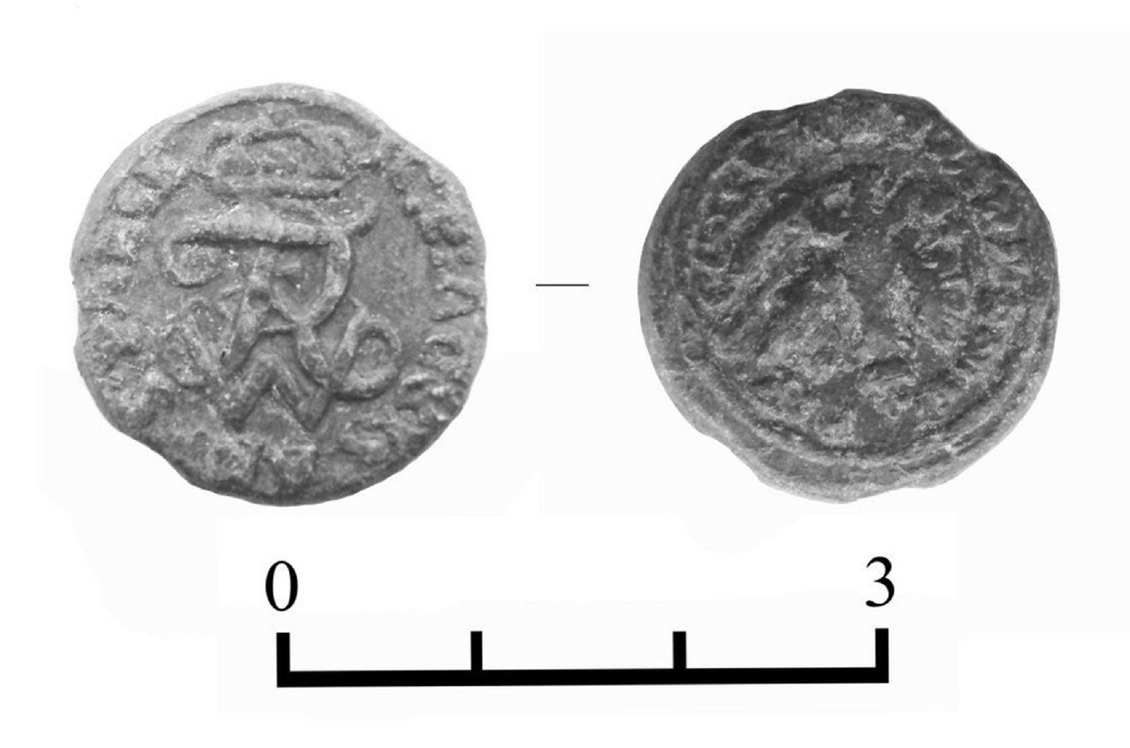 Реверс и аверс печати Владислава 4 Вазы, найденные в Гомеле