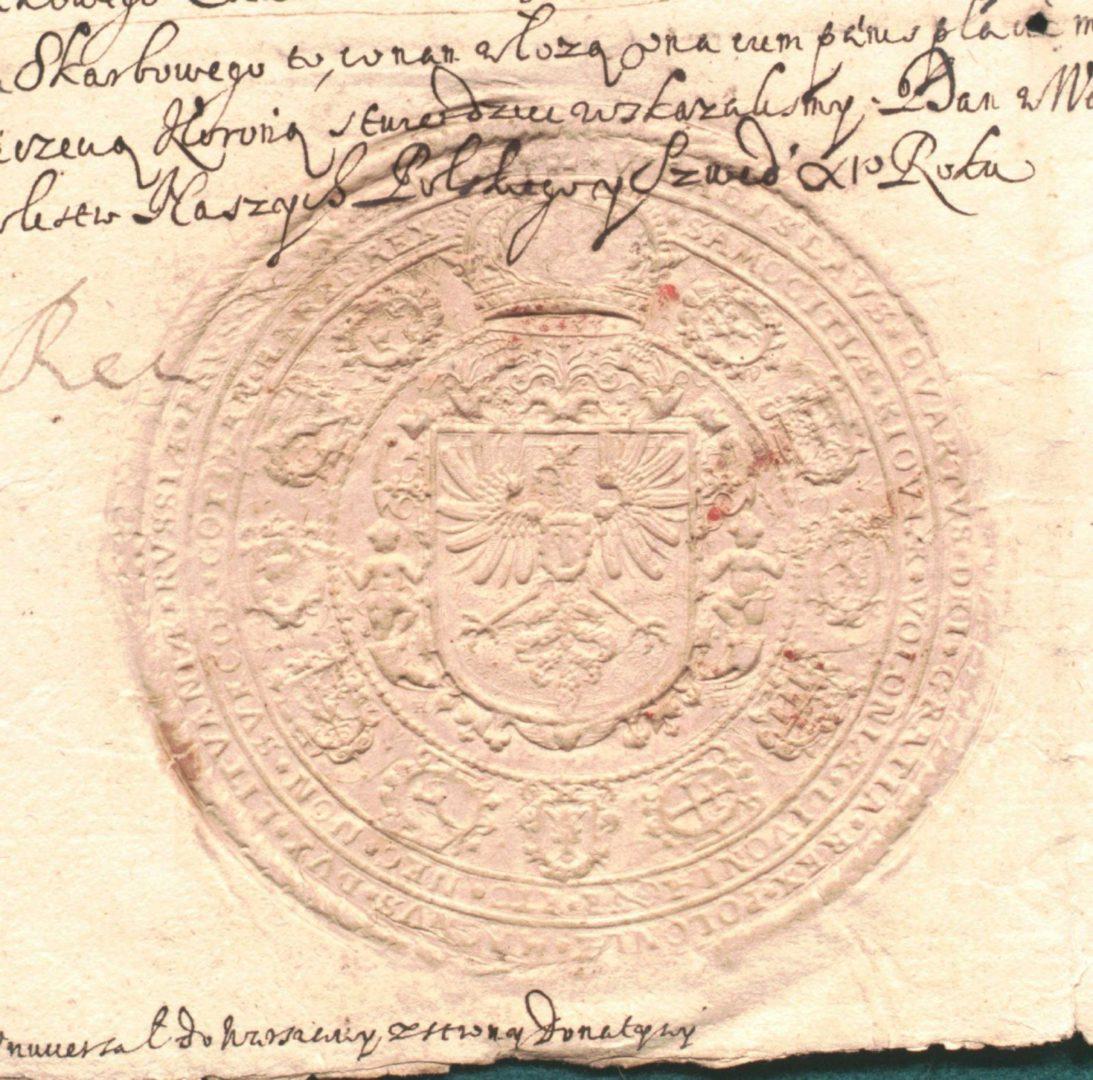 Оттиск печати короля Речи Посполитой Владислава IV Вазы