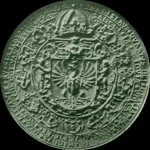 Изображение одной стороны королевской печати Владислава IV Вазы