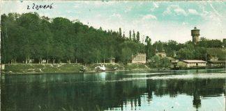 Вид на Сож в Гомеле на цветной фотографии дореволюционного периода