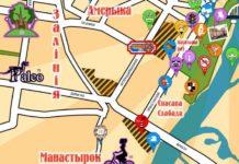 Альтэрнатыўная мапа Гомеля