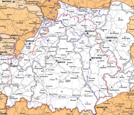 Границы Белорусской народной республики