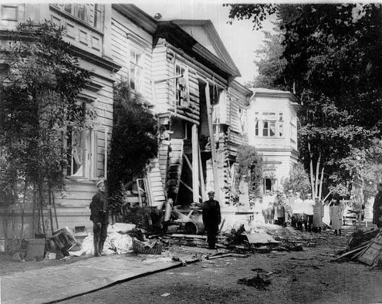Фотография дачи Столыпина после терракта в 1906 году