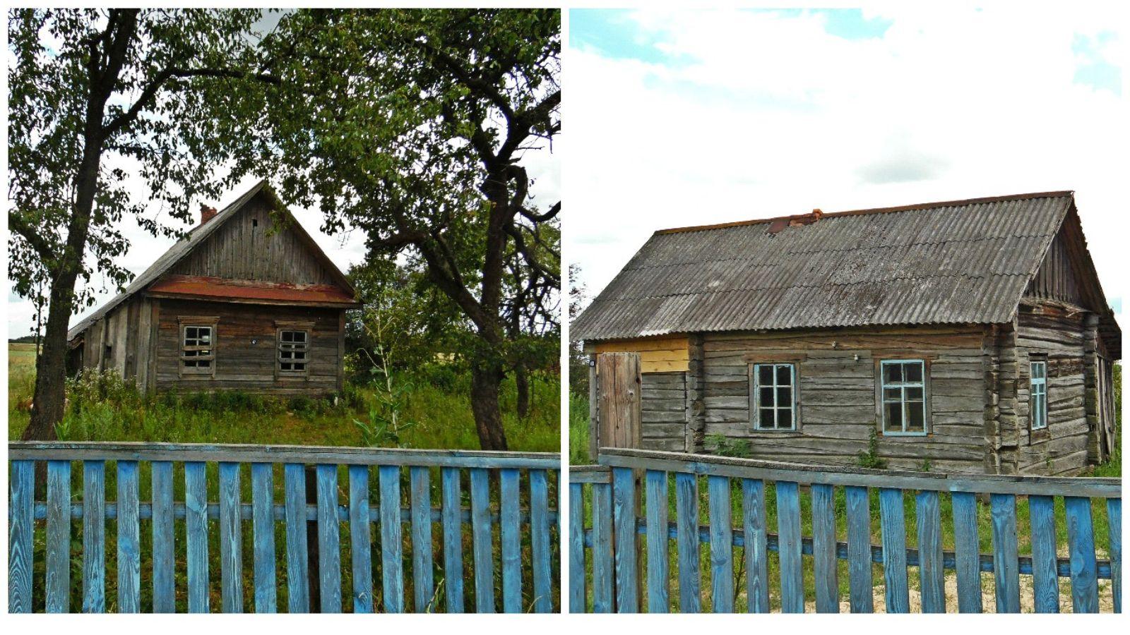 Закинутые старые хаты в Наровлянском районе