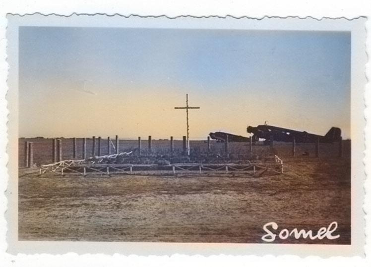 Старый аэродром в Гомеле во время войны