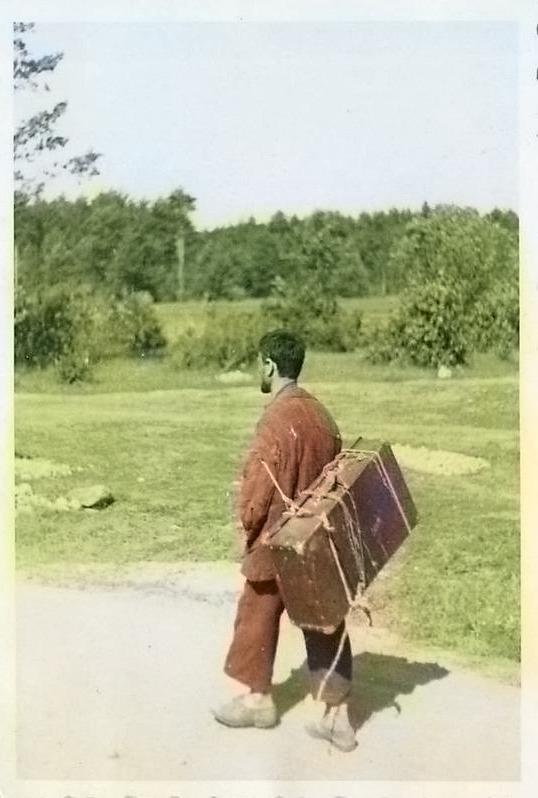 Фотография беженца во время войны в Гомеле