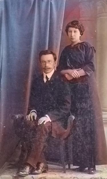 Семейная пара из Гомеля столетней давности