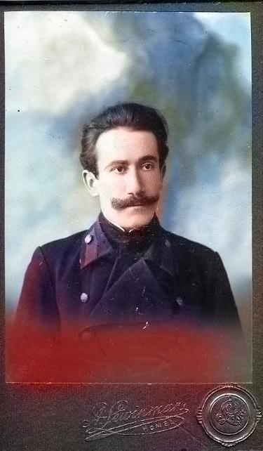 Гомельчанин сто лет назад на старой фотографии
