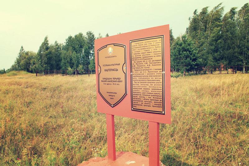 Охранный знак на Шведской горке в Гомеле