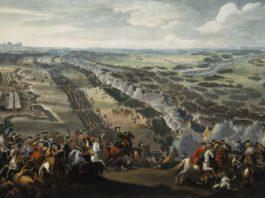 Битва под Полтавой на картине Дениса Мартенса