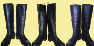 Чёрные мужские сапоги