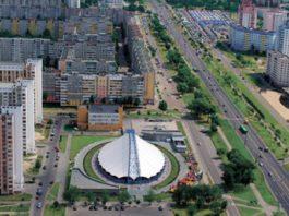 Гомель и его Советский район с воздуха