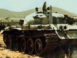 Советский танк Т-62 сирийских войск на Голанских высотах. Война Судного дня
