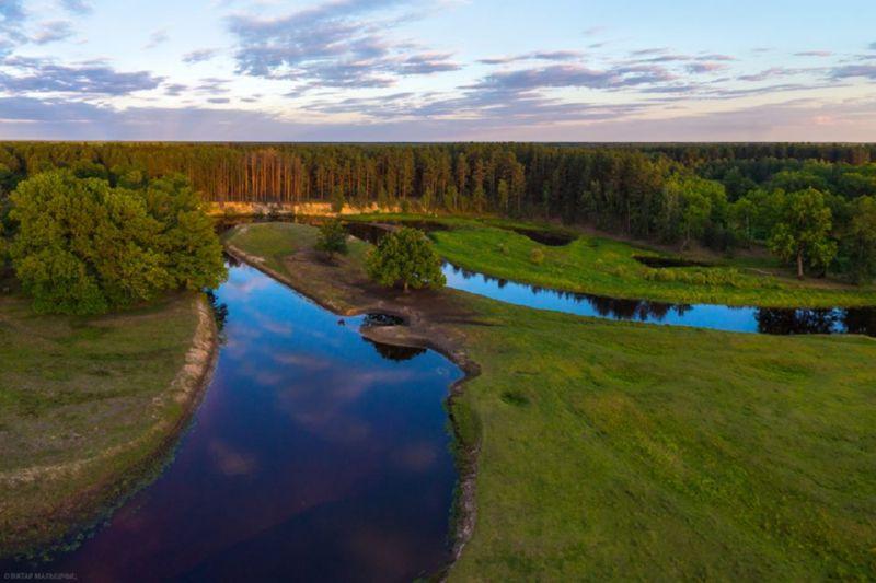 Река Уборть и её развилка