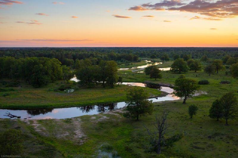 Река Уборть на закате