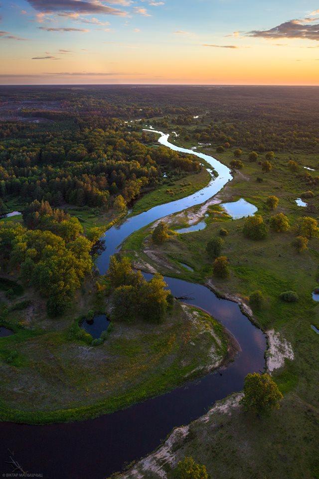 Река Уборть в Беларуси