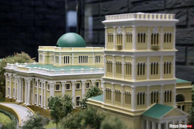Палац Румянцавых-Паскевічаў і яго мадэль