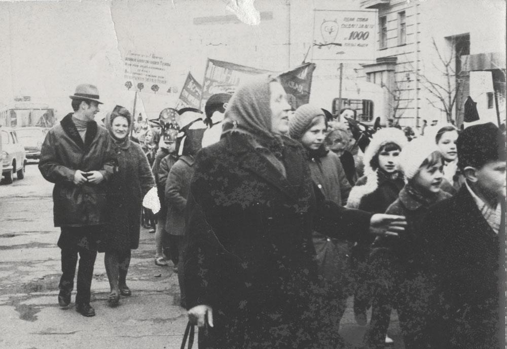 Демонстрация в Гомеле в 1971 году