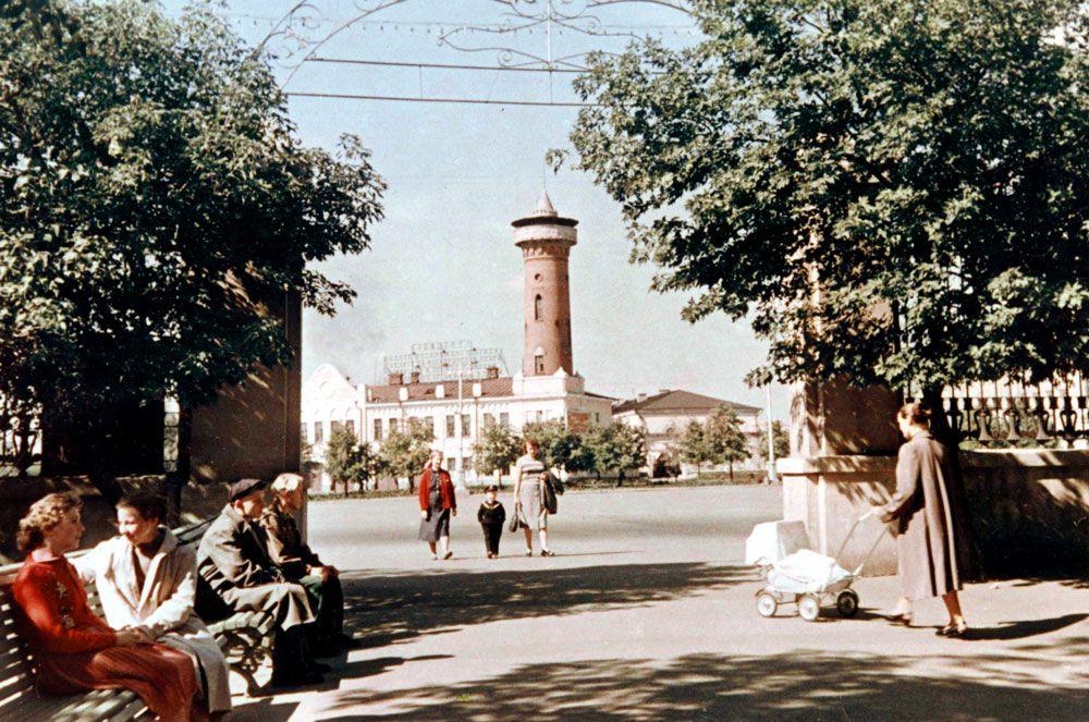 Пожарная каланча в Гомеле в 1960-м году