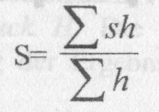 Формула метод Пантле и Букка в модификации Сладечека
