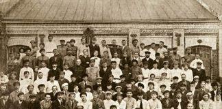 Рабочие завода и фабриканты в Речице