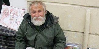 Валерий Ляшкевич - бездомный художник из Гомеля
