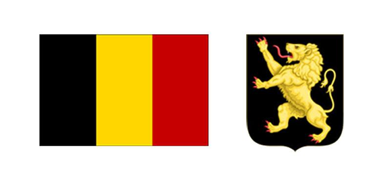 Флаг и герб Бельгии
