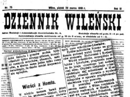 Dziennik Wilenski ў 1918 з Гомеля