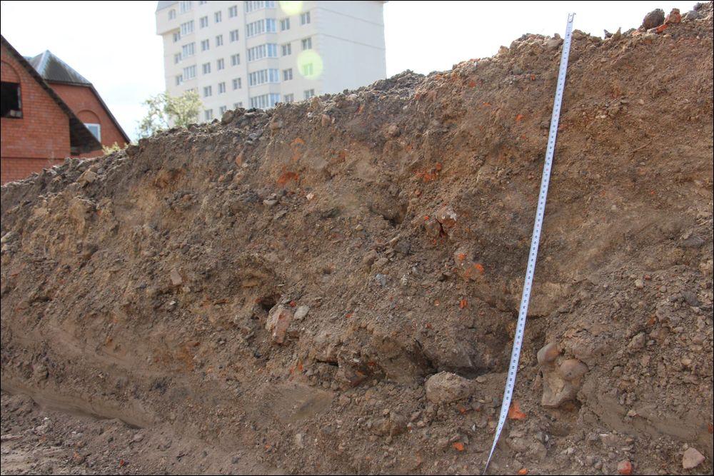 Могілкі і раскоп у Гомелі