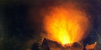 Борьба с пожарами и пожары в старом Турове в Беларуси