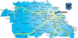 Города и районы Мозырского мезо-ТПК