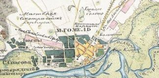 Река Гомель и старая карта