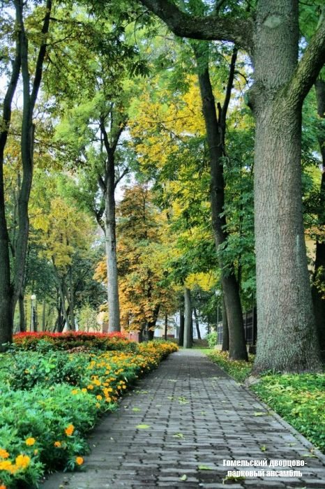 Gomel Palace and park history