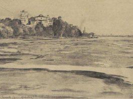 Палац у Гомелі ля ракі Сож. Гомель цудоўны