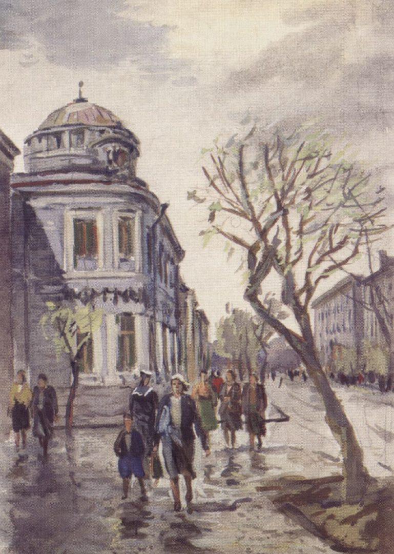 Банк па вуліцы Савецкай у Гомелі